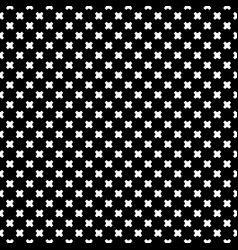 seamless pattern white crosses on black vector image