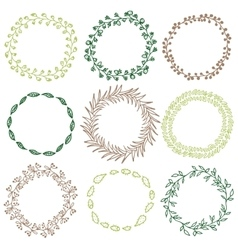 Set of decorative circle frames vector image