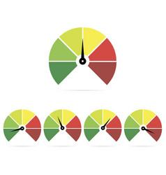 Speedometer icons easy normal medium hard vector