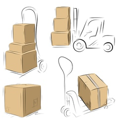 Storehouse carts vector