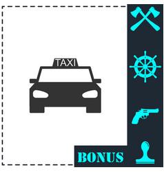 taxi car icon flat vector image