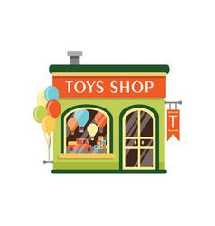 toys shop flat kids store vector image