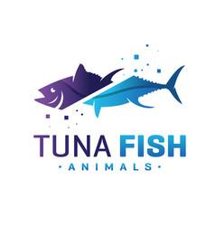 tuna logo design vector image
