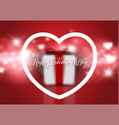 valentines day background with defocussed gift vector image