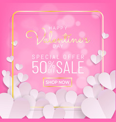 valentines day sale background typography and vector image