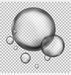 Water liquid sphere round crystal 3d macro vector