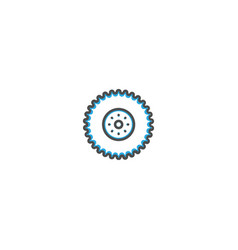 wheel icon design transportation icon design vector image