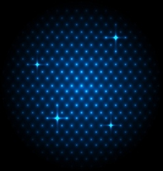 Abstract global with blue dots background vector image