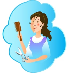 Hairdresser profession vector image vector image