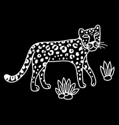 leopard graphic animal vector image
