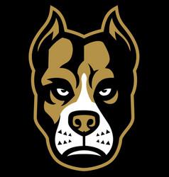 pitbull dog mascot vector image