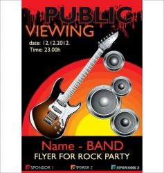 public banner rock party vector image