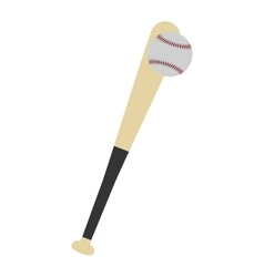 baseball bat ball play icon graphic vector image vector image