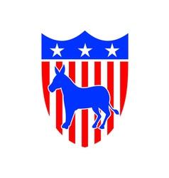 Democrat Donkey Mascot vector image vector image