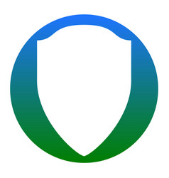shield sign white icon in vector image