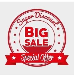super discount big sale special offer star banner vector image
