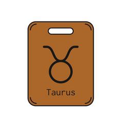 Taurus sign of the zodiac flat symbol horoscope vector