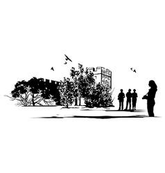 Tourist Castle vector image