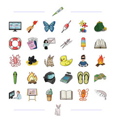 Trekking medicine education and other web icon vector