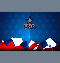 usa flag backgrounds design vector image vector image