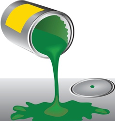 Cans of green paint vector