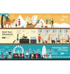 Egypt start your adventure amazing sights of vector