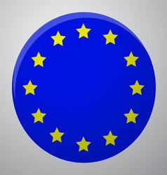 Icon European Union Flag vector image