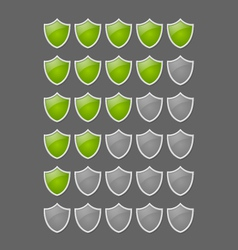 Rating glossy shields vector image vector image