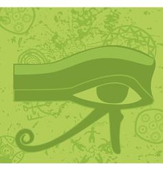 Grunge egyptian Eye of Horus ancient deity vector image