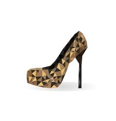 origami leopard print shoe vector image
