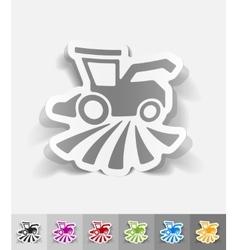 realistic design element combine-harvester vector image