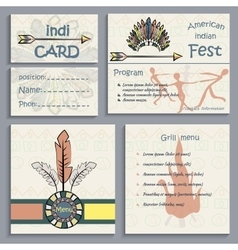 Set ethnic indian corporate Identity vector image vector image