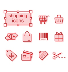Thin line icons set Shopping vector image