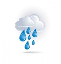 white cloud and drops vector image