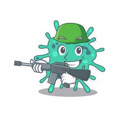 A cartoon picture shigella boydii in army vector