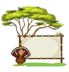 A turkey and the empty signage vector image