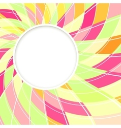 Abstract white round shape candy background vector