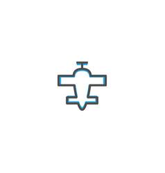 aeroplane icon design transportation icon design vector image