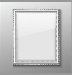 An empty frame on a wall vector