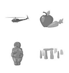 army religion and other monochrome icon in vector image