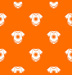 Baby bodysuit pattern seamless vector
