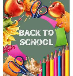 back to school banner sale school supplies vector image
