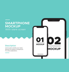 banner smartphone mockup isolated on background vector image