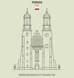 basilica of st peter and st paul in poznan vector image