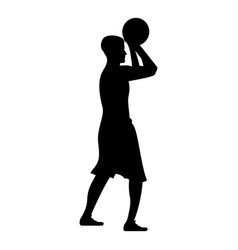 basketball player throws a basketball man vector image