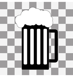black beer icon on a transparent vector image