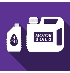 Blank plastic canister for motor oil icon vector