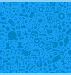 blue elements seamless pattern vector image