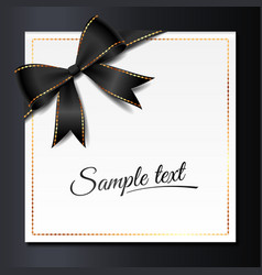 card with black bow vector image