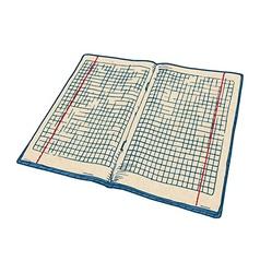Checkered notebook vector